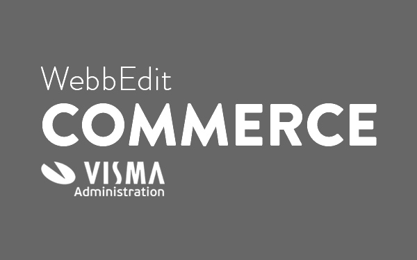 WebbEdit Commerce Visma Administration